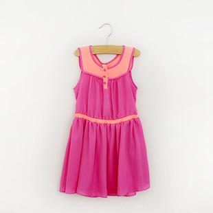 供应外贸童装 16新款夏季清凉女童长裙子 儿童背心连衣裙