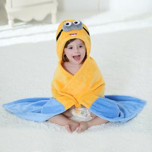 【一件代发】春新款法兰绒新生婴幼儿披风 斗篷 抱被奇乐兔H1660