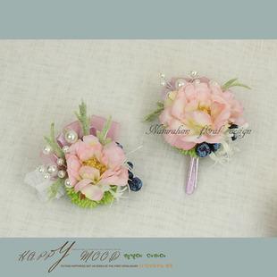 оптовая руки цветы корсаж брак моделирования бизнес - праздник цветы ягоды Суккуленты серии светло - розовый