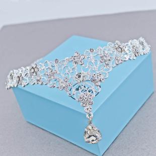 оптовая невесты украшения головной убор цветы дрель лоб украшения V капли корона жениться цин аксессуары - шпилька прямых продаж