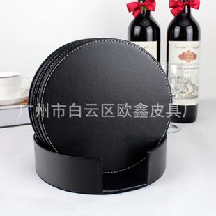 圆形餐桌垫隔热垫防水杯垫 pu仿皮餐垫 欧式西餐皮革装饰碗垫订做