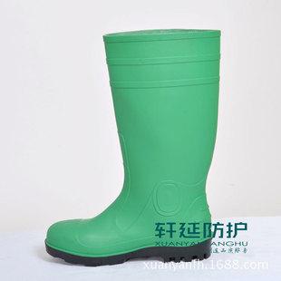 зеленый высокий ствол ударостойкость анти - прокол сапоги стали глава нижней защитные сапоги стали двойной стальной мужские месторождения горнодобывающих сапоги