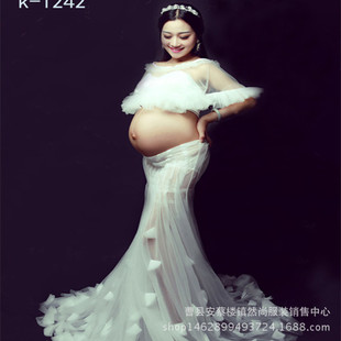 2016展会新款影楼摄影拍照写真孕妇服装准妈咪孕味服公主裙艺术照