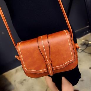 女包2016冬季新款小方包韩版时尚单肩斜挎包复古粗线皮带小包包