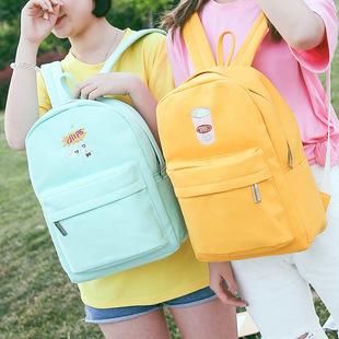 Корейский институт холст рюкзак - день ветер старшеклассников досуга младших школьников сумку - рюкзак поездки простота