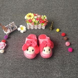 冬季新款大耳朵娃娃卡通家居小棉鞋 棉拖鞋