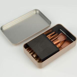 化妆工具NK3代12支金色铁盒化妆刷套装刷子尼龙毛羊毛厂家批发爆