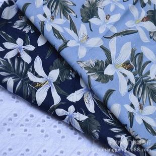 хлопок и лен активности Калико хлопок твист тканью, простой, но элегантный план орхидеи ситец модной женской одежды детской одежды ткань