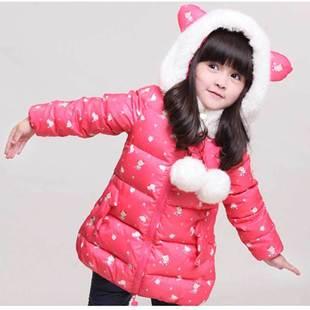 童装16冬装新款儿童小女童宝宝羽绒服中长款加厚保暖外套一件代发