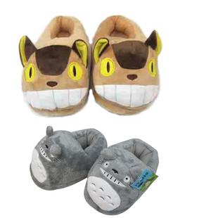 日本宫崎骏龙猫动漫卡通全包冬季居家保暖毛毛棉拖鞋动漫毛绒拖鞋