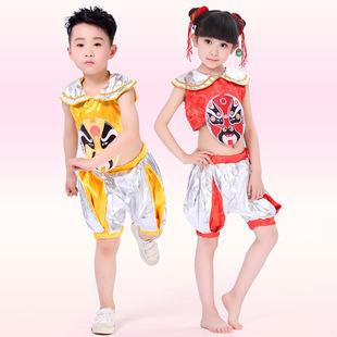 巴拉猫新款特卖儿童舞蹈裙 民族舞 京剧脸谱表演演出服609