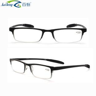 百恒防滑脚套老花超轻时尚办公光学眼镜TR90老花TR防辐射眼镜