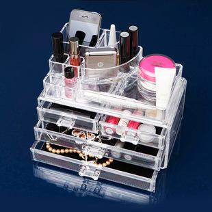 创意家居生活用品透明化妆盒首饰盒小商品批发 义乌 新奇特收纳盒