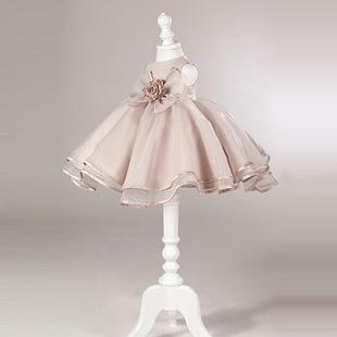 韩版礼服裙无袖童裙春蝴蝶结蓬蓬公主裙表演新款童裙儿童连衣裙