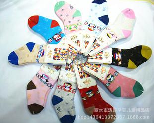 小毛头宝宝袜子 新款秋冬加厚毛圈保暖婴儿袜子 松口袜
