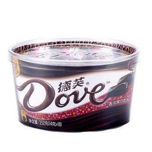 德芙香浓黑巧克力碗装252g单盒