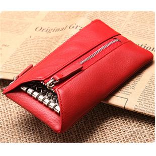韩版牛皮女士钥匙包/零钱袋 女式真皮手机包 多功能钥匙包