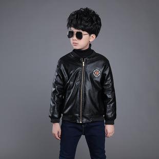 男童加绒款皮衣   尺码:120-170 正码:建议身高:1