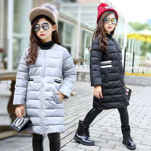 хлопок новый зимнюю одежду детей девочек рельефные хлопок в большой корейский секретаря детей пункта молния свитер зимой детей носить футболки