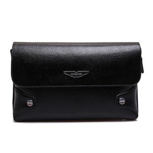 商务精英复古英伦系列手包休闲商务两用包。采用伸缩式抓腕带可根