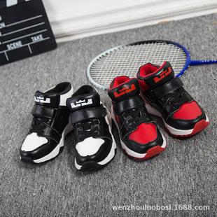 2016冬新款儿童运动鞋男童高帮休闲鞋女童真皮跑步鞋韩版加绒棉鞋