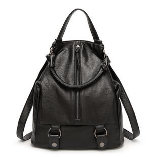 新款夏季真皮女包 欧美大容量双肩包女式多功能背包旅行包批发