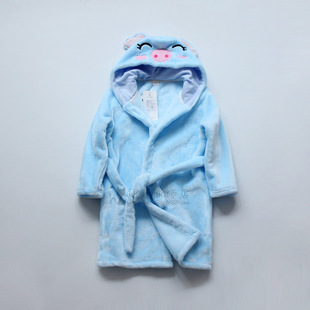 фланелевый халат корейских детей 2016 зимой мультфильм детская одежда детей даже шапка, халат, завод оптом