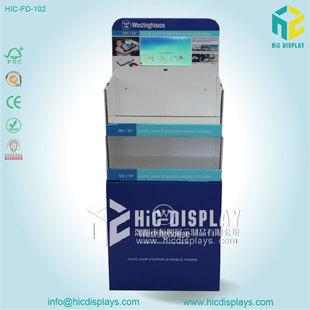 深圳厂家供应电池纸货架商超促销电子配件纸陈列堆头免费设计打样