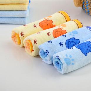 Санли разрезать стопку печать детей полотенце хлопок воды милый малыш детей полотенце