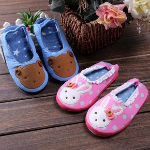 F006 зимняя обувь мальчиков детей дома моды мультфильм хлопка, тапочки тапочки теплый нескользящей девочек комфорт
