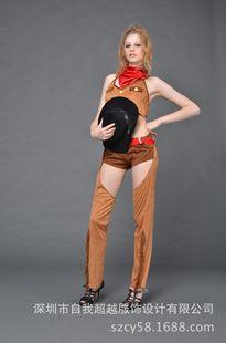 """厂家派对cosplay动漫服装舞台表演""""纽约街""""系列西部女孩连衣裙"""