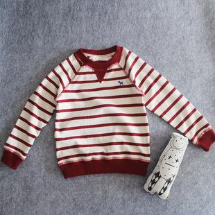 秋冬新款婴幼儿T恤宝宝打底衫保暖纯棉外贸原单长袖