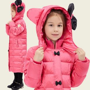 2016冬季儿童羽绒服新款中大童女童装长款羽绒服加厚厂家一件代发