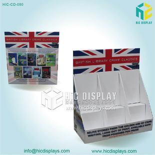 供应手机配件PDQ展示盒挂钩展示纸货架电子产品陈列纸堆头可定制