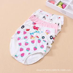 婴幼儿内裤 2017新款柔软舒适棉质女童内衣 时尚卡通中小童三角裤