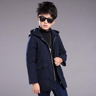 男童毛呢大衣新款  尺码:120-170 正码:建议身高:1
