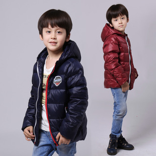 2016新款冬儿童羽绒服男童中长款加厚羽绒服棉袄外套一件代发批发