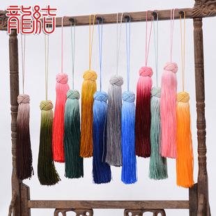 龙结手工 编织渐变色流苏 服饰配件吊苏穗子 绕线菠萝帽流苏批发