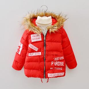 冬季新款 跑量字母童棉衣韩版 手塞棉服超厚童装批发