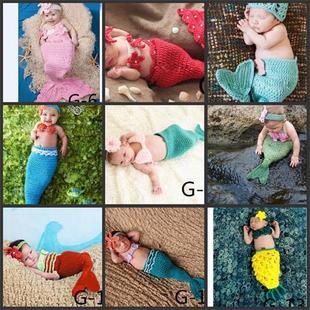 фотографии детей новый стиль одежды фотостудии малыш сто Аматэрасу фотографировать Mermaid ручной 毛线品 полнолуние
