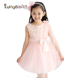 детская одежда девочек в большой моде детей летом весной новый танец кружева жилет платье принцесса марлю шаль