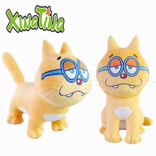 阿松先生松野一松猫超级猫站姿坐姿款Cosplay毛绒公仔 布偶玩具