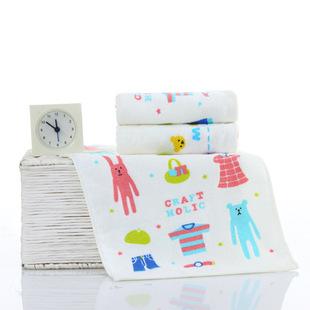 Санли сказочный мир детей полотенце хлопка поглощения небольших полотенце хлопка мультфильм ребенок детей полотенце