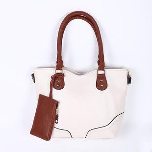 单肩包女包带零钱包PU女士手提包包定制贴牌来样加工定做厂家批发