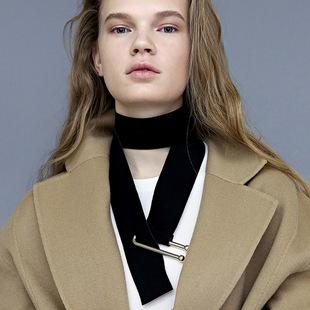 【欧慕图】创意款韩版时尚女士绒带长款毛衣链 街拍经典项链批发