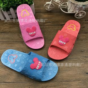 新款热销厂家批发家居室内户外柔软舒适防滑耐磨米奇女塑料拖鞋