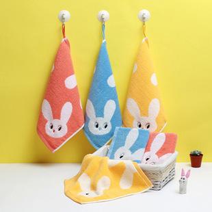 Санли милый кролик детей полотенце висит полотенце хлопка мультфильм небольшой площади