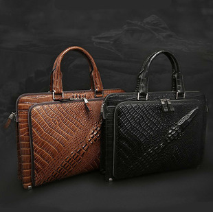 новый первый слой кожи крокодил мужчины сумку бренд мужчины пакет кожаные сумки гуанчжоу оптовой торговли