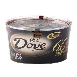 252g德芙浓醇黑巧克力66%碗装