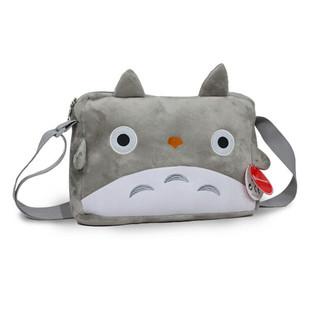 外贸直销宫崎骏毛绒书包 TOTORO龙猫多多洛灰色背包动漫卡通礼物